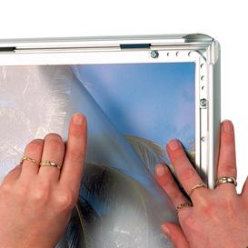 Set transparante sheets A0 voor waterdichte borden