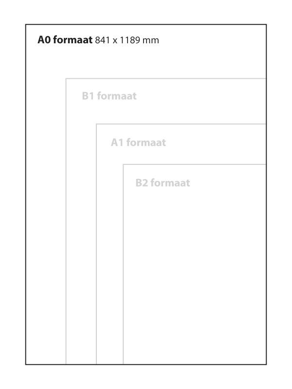 Set transparante sheets A0