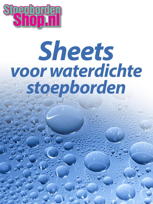 Set transparante sheets B1 voor waterdichte borden
