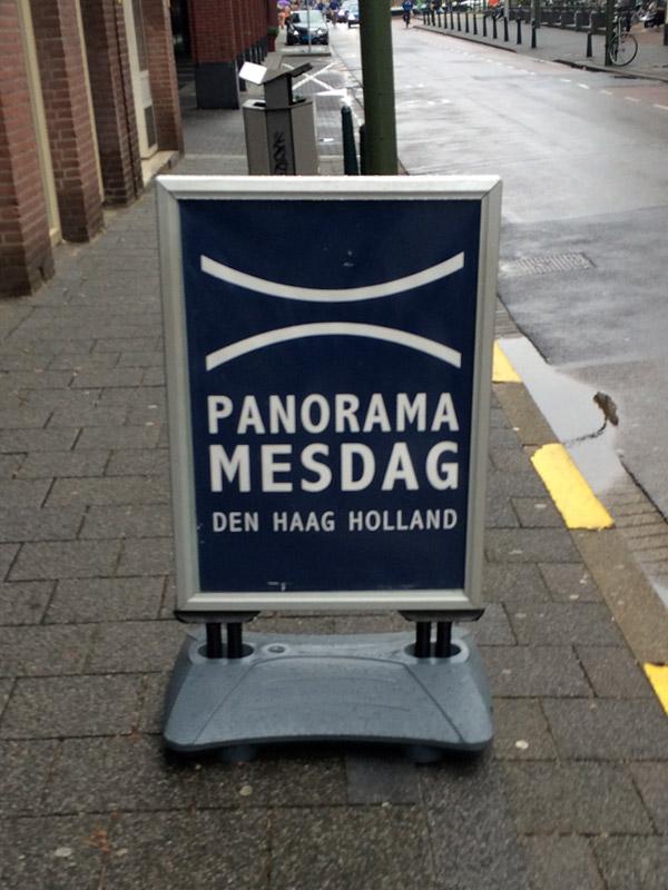 A1 formaat stoepbord museum Den Haag
